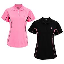 pink ribbon quick dry polo shirt the breast cancer site