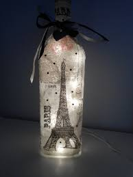 Decorative Wine Bottles With Lights by Paris Wine Bottle Lamp French Decor Paris Gifts Wine