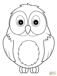 Owl Coloring Pages 3