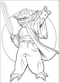Click To See Printable Version Of Master Yoda Coloring Page
