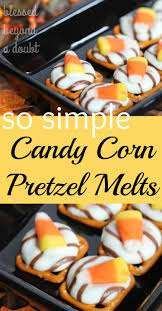 Rice Krispie Halloween Treats Candy Corn by Candy Corn Pretzels Melts Halloween Treats Sweet And Halloween