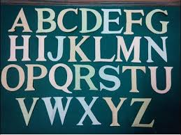 A Z Letter Cutting Times New Roman Font Style