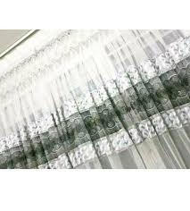 top wohnzimmer gardine vorhang weiß grau strasssteine