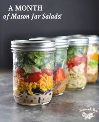 A Month Of Mason Jar Salads