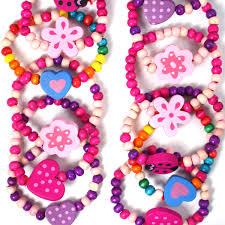 12 Pretty Bead Bracelet Girls Bag Filler Childrens Birthday Party