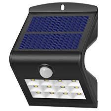 dephen solar wall lights 12 leds bright solar powered