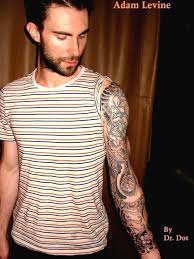 Hot Celebrity Adam Levine Motivational Tattoos