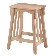 Mission Flat Top Counter Stool RTA
