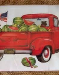 100 Bagged Truck Watermelon Towel All Seasons Floral Gifts