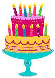 3D clipart birthday cake 1