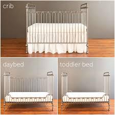baby crib pewter
