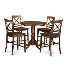5 PC Counter Height Dining Room Set-pub Table And 4 Dining Chairs. By East  West Furniture Four Ding Chairs In Stain Beech Teak Upholstered With Black Leatherette Art Nouveau Or Deco Shield Back Antique Ding Chairs Set Of Vintage Four By Helge Sibast For Early 19th Century Round Bdmeier Table Moes Home Collection Calvin Sadlers Johannes Andersen Denmark Circa 1950 Victorian Walnut The Shop Fashionchrystal Setfour Includedtransparent 5 Pc Counter Height Room Setpub And 4 East West Fniture Mid Modern Lawrence Peabody