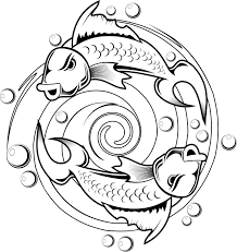 Detail Kids Coloring Pages Of A Koi Fish
