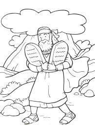 Ten Commandments Coloring Pages Corresponsablesco