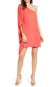 Cupcakes And Cashmere One Shoulder Crepe Dress