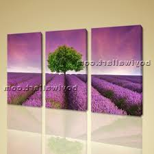 Canvas Wall Art In Purple Throughout Famous Print Contemporary Sunset Landscape