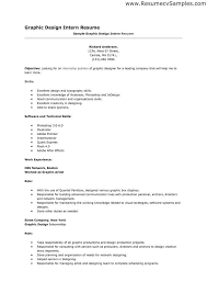 Sample Resume For Internship Position