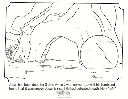 Resurrection Of Jesus Coloring Pages Jacb Me