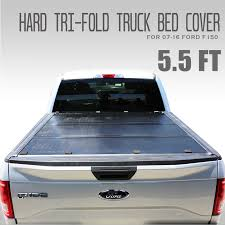 Best F150 5.5ft Hard Top Tri-Fold Tonneau Cover, Truck Bed Cover