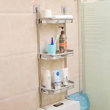 toilettenpapierhalter für küche badezimmer organizer regal grau 3 ebenen