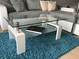 tisch wohnzimmer beistelltisch glas chrom weiß