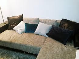 canapé d angle pas cher modèle toast d angle tissu et simili cuir