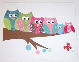 Modern Ideas Wall Painting For Kids Room Art Owl Interior Design
