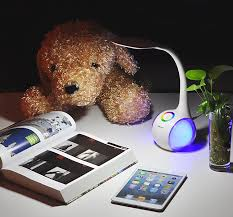 Touch Lamps At Walmart by Saicoo Led Desk Lamp 2 In 1 With Multi Colored Night Light 3