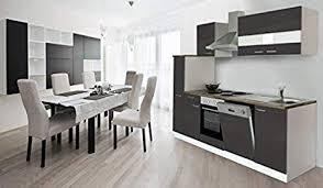 respekta küche küchenzeile einbauküche küchenblock 250 cm