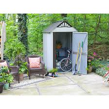 Arrow Galvanized Steel Storage Shed by Designer Series Metro 4 X 6 Ft Shed Steel Sheds Arrow Sheds