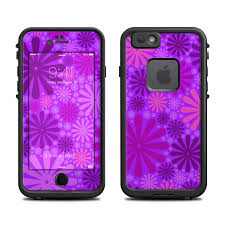 Lifeproof iPhone 6 Fre Case Skin Purple Punch by Pixel Decor