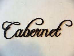 Custom Made Cabernet Wine Word Home Kitchen Decor Metal Wall Art