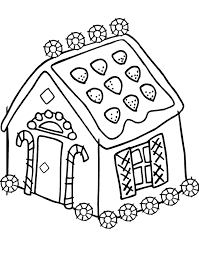 Gingerbread House Coloring Pages For Kids Printable