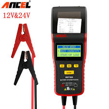 100 Heavy Duty Truck Battery Ancel BST500 12V24V Car Tester With Thermal Printer Car