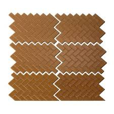 Herringbone Backsplash Tile Home Depot by Aspect Mini Herringbone Matted 4 In X 6 In Metal Decorative Tile