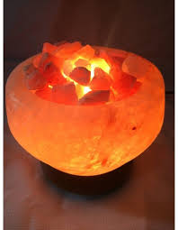 Himalayan Salt Lamp Pyramid Shape by Himalayan Salt Lamp In Fire Bowl Shape For Healing Harmony And