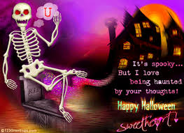 Free Halloween Ecards by Halloween Thoughts Free Bewitched Lovers Ecards Greeting Cards