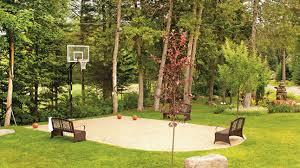 terrain de basket exterieur formule tout compris dans le jardin les idées de ma maison
