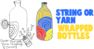 String Wrapped Plastic Water Bottles