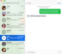 OS X Yosemite send an SMS Save Sending and receiving SMS messages