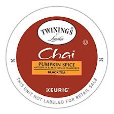 Keurig Pumpkin Spice Coffee Nutrition by Twinings Pumpkin Spice Chai Tea Keurig K Cups 12 Count Pack Of