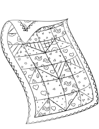Click To See Printable Version Of Quilt Coloring Page
