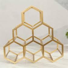 einfache design 1 6 flasche hexagon geometrische wein rack metall eisen trauben wein rack restaurant wohnzimmer bar schrank wein display