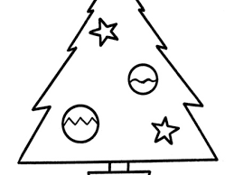 Easy Pre K Christmas Coloring Pages Tree