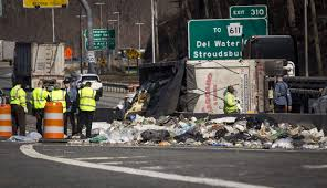 100 Garbage Trucks Videos Overturned Garbage Truck Snarls Traffic On Route 80 In Hardwick