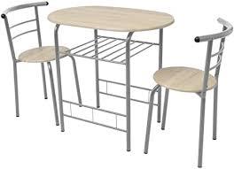 festnight bar set frühstückstisch mit 2 barstühle bartisch stehtisch aus mdf eisenrahmen essgruppe für küche esszimmer