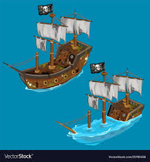 100 Pirate Ship Design Old Classic Pirate Ship On Water And Flooded