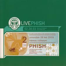 phish livephish 02 28 03 nassau coliseum uniondale ny cd