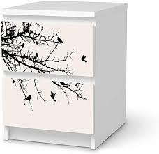 wandtattoo möbel passend für ikea malm kommode 2 schubladen i möbelaufkleber möbel sticker aufkleber i wohnen und dekorieren für wohnzimmer
