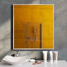badspiegel mit alurahmen ohne beleuchtung spal160